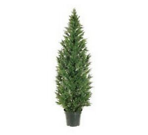 6' Artificial Cedar Topiary Tree Outdoor Cypress Pine Deck UV Rated 5 3 4 7 Pool