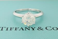 Tiffany & Co 1.53 ct Platinum Round Diamond Solitaire Engagement Ring E VVS2 3EX