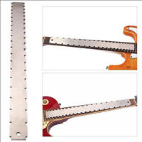 Stainless steel guitar notched ruler gauge tool for fingerboard fretboard Kn