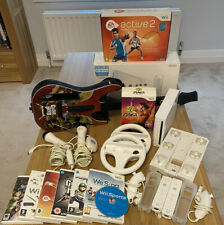 Nintendo Wii Bundle, Excellent Condition, 9 Games, Guitar Hero, Zumba, Active