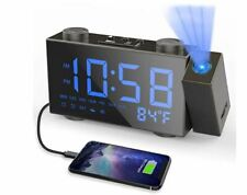 Projection Alarm Clock Moskee Digital Dual Alarm Clocks for Bedroom with Fm Radi