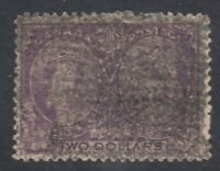 "Canada Scott #62  $2.00 dark purple  ""Diamond Jubilee""  F"