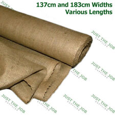 Hessian 6oz Natural Jute Frost Protection Building Plant Masonry 137cm 183cm 46m