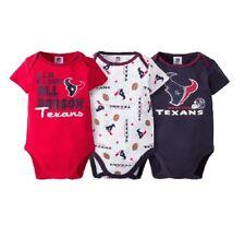 Gerber Baby Boy 3-Piece NFL Houston Texans Short Sleeve Onesies Set Size 0-3M