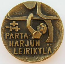 Finland Boy Scout Thematic Bronze Art Medal 70mm 245gr