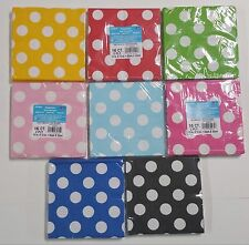 "Polka Dot Party Napkins Paper 13""x13"" 2 Ply 16 Count Lunch Napkins -U Pick Color"