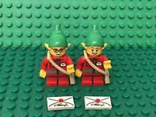 Lego Christmas Post Delivery Elf Mini Figure W/ Red Short Legs,pointed Ears Hat