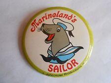 Vintage Marineland's Sailor the Seal Amusement Park Souvenir Pinback Button