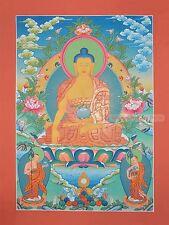 "32.5"" x 24"" Shakyamuni Buddha Tibetan Buddhist Thangka/Thanka Painting Nepal"