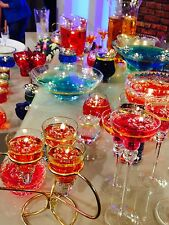 100 CLEAR CANDLE FLOATERS & 100 LONG BURNING WICKS WEDDING TABLE CENTREPIECES
