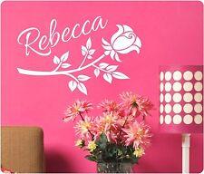 Custom Flower Name Vinyl Wall Decal  Decor Girls Sticker