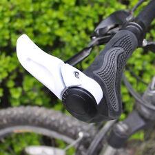 New Cycling MTB Bike Bicycle Comfortable Handlebar Rubber Grips + White Bar End