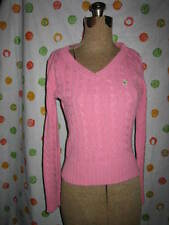 AEROPOSTALE YOUTH SIZE LARGE CUTE PINK CABLEKNIT SWEATER EUC