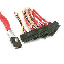 LSI / 3Ware Molex mini SAS SFF-8087 to SFF-8482 and power x4 SAS cable