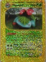 POKEMON VENUSAUR-CARD JUMBO 4/12-MISURA CM. 12,7x9,2-FOIL-USATA-INGLESE