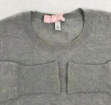 Autumn Cashmere Womens Long Sleeve Crew Neck Sweater Gray Size XS