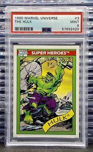 🔥1990 Marvel Universe Series 1 The Hulk PSA 9 MINT *Low Pop*