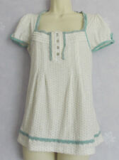 Ladies NEW LOOK soft cotton polka dot top Size 10