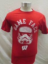Wisconsin Badgers Men's S T-shirt Knights Apparel Star Wars Shirt Red Ncaa A15