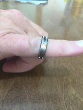 Triton 6.5mm Titanium & 18K Black Cable Inlay Band Ring