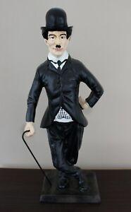 Deko Figur Komiker Charlie Chaplin H 41 cm Dekofigur Chaplin mit Stock Kunstharz