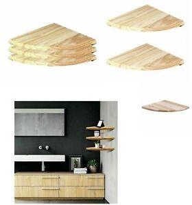 Natural Wood Corner Shelf Wall Mounted Storage Wooden Unit Shelves Home,Kitchen