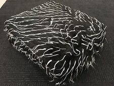 Faux Fur Blanket Weave Large Throw Rugs - Black/White & FREE FREIGHT