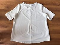 Next Maternity Top Cream Zip Back Detail Uk Size 10 VGC !