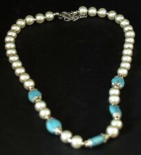 Genuine Chinese Turquoise & Shell Pearl Necklace