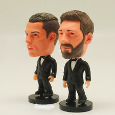 "Soccer Star 2PCS/LOT MESSI & C.RONALDO (Full Dress) 2.5"" Action Dolls Figurine"