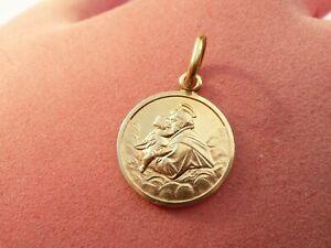SUPERB SOLID 18CT GOLD UNUSUAL DESIGN ST SAINT CHRISTOPHER PENDANT 3 GRAMS