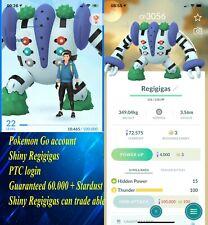 Pokémon Go Shiny Regigigas 3000CP -  Acc mini - PTC -  Pokemon Regigigas