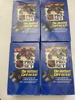 4 sealed boxes 1990 Pro Set hockey series 1