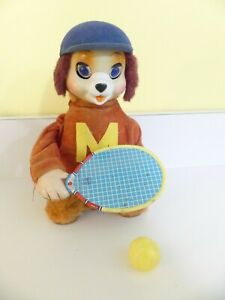 """Vintage 1950's Battery Operated """"Tennis Ball Playing Dog"""" - Linemar Co. - Japan"""