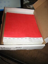 """1000 ct 3/4"""" Tyvek Wristbands Color neon red ## spring break Clubs Event Bar Lot"""