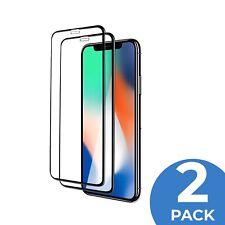 2x 11D Glas für iPhone X XR XS 11 Pro FULL COVER Panzerfolie Schutz Hartglas 9H