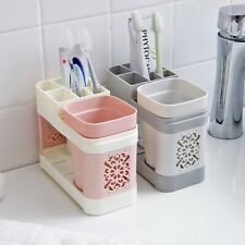 Toothbrush Toothpaste Stand Holder Bathroom Home Storage Organizer Multicolor