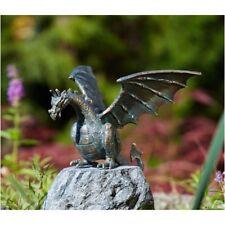 Bronze Dragon Comme Gargouille Utilisable Sans Embase Jardin Déco RO-90169
