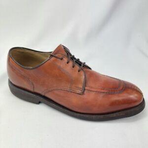 Footjoy Gumlite Mens Oxford Dress Shoes Brown Black Apron Toe Low Top Lace Up 7C
