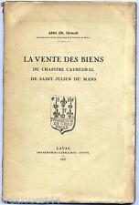 Vente des biens du chapitre cathedral de Saint-Julien du Mans Laval Goupil 1927