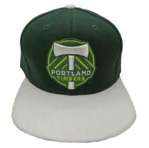 New MLS Portland Timbers Mens OSFA Adidas Snapback Flatbrim Hat