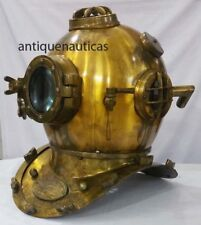 Vintage Mark V US Navy Divers Navy Boston Brass Antique Scuba Deep Diving Helmet