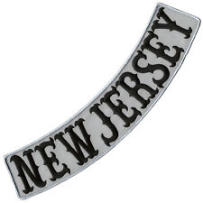"""VEGASBEE® NEW JERSEY REFLECTIVE EMBROIDERED DECORATIVE PATCH LOW ROCKER 13"""""""