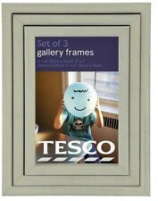NEW Tesco Gallery Pack of 3 Photo Frames – Sage Green