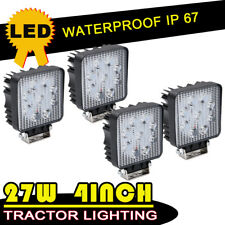 """4x 4"""" 108W Square LED Working fog Light Bar Pods Flood Beam Driving Offroad Lamp"""