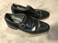 Brookcraft Black Leather Mens Dress Monk Strap Monkstrap Shoes 8.5 D 8.5D