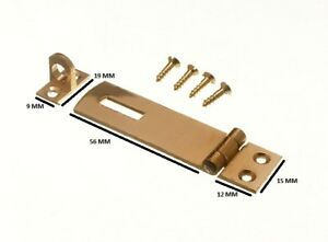 Security Hasp And Staple For Pad Locks Brass 63mm + Fixings