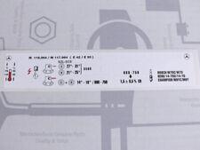 Mercedes Motor-Aufkleber M116.964 / M117.964 EZL ECE W126 R107 NOS!