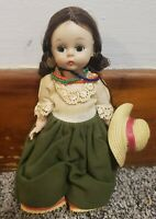 """VINTAGE AND HARD TO FIND MADAME ALEXANDER BKW """"ECUADOR"""" DOLL & Coin Earrings"""