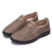 Chic Mens Shoes Slip On Loafers Breathable Casual Mesh Sneakers Shoes Driving sz